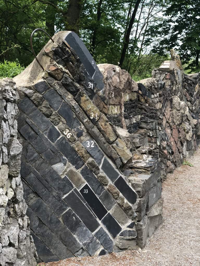 Geologischer Wand Botanischer Garten Berlin Pankow