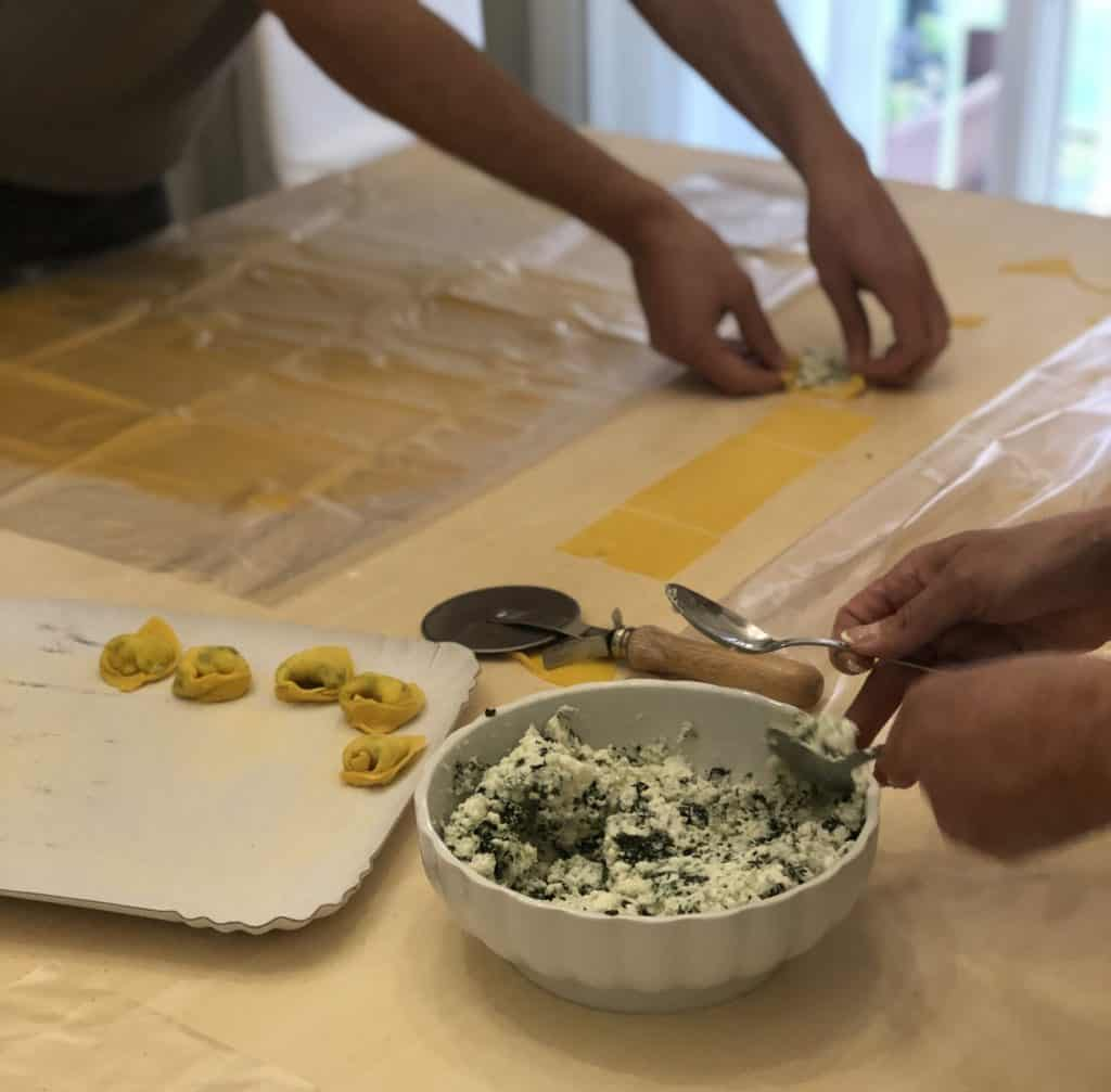 Tortelloni mit Füllung  selber machen